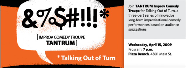TANTRUM: Talking Out of Turn