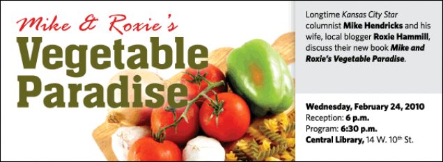 Longtime Kansas City Star  columnist Mike Hendricks and his wife, local blogger Roxie Hammill, discuss their new book Mike and Roxie's Vegetable Paradise.