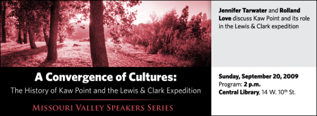 Jennifer Tarwater and Rolland  Love discuss Kaw Point and its role in the Lewis & Clark expedition