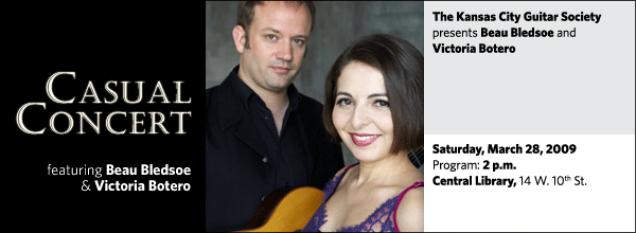 Kansas City Guitar Society: Beau Bledsoe and Victoria Botero