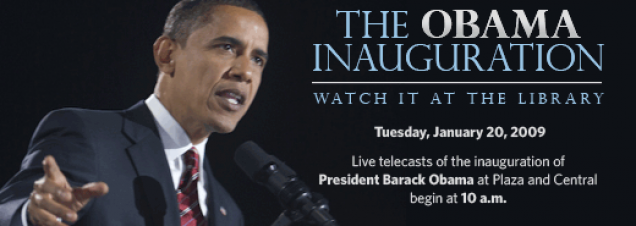 Live Broadcast of Barack Obama Presidential Inauguration To Be Screened At Central Library And Plaza Branch. Photo credit: David Katz/Obama for America